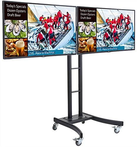 Dual E-Poster Kit, Wheeled Design