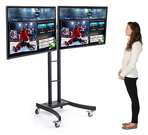 Portable Dual Electronic Poster Stand