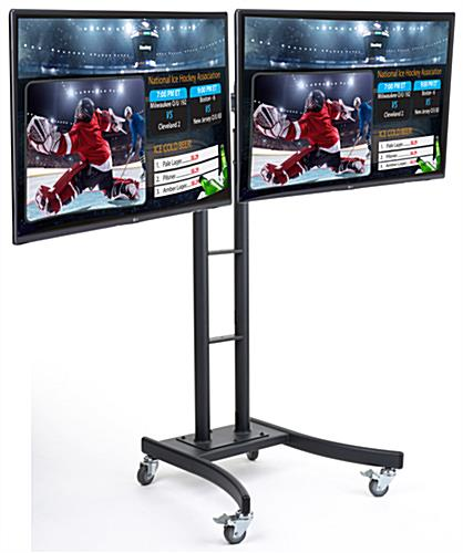 Dual Electronic Poster Stand with (2) LCD TV's
