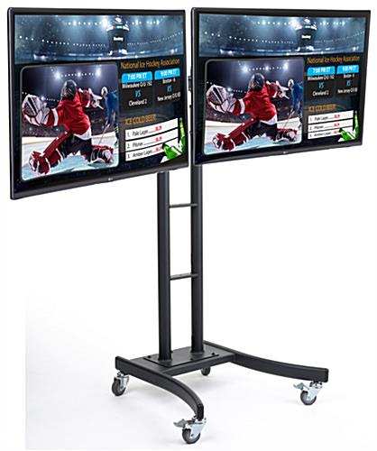 "(2) 55"" LG Advertising Monitors for Rolling Digital Menu Board"