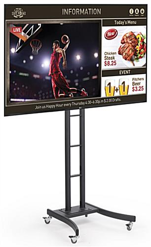 Black Mobile Digital Sign Monitor
