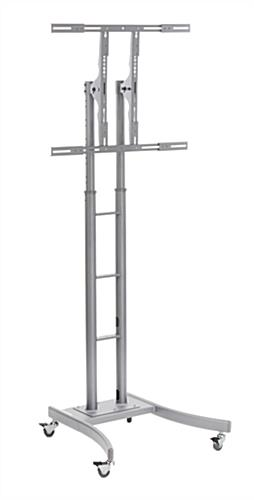 Silver Stand for Mobile Digital Signage Display