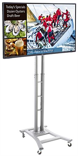 Silver Digital Sign Stand