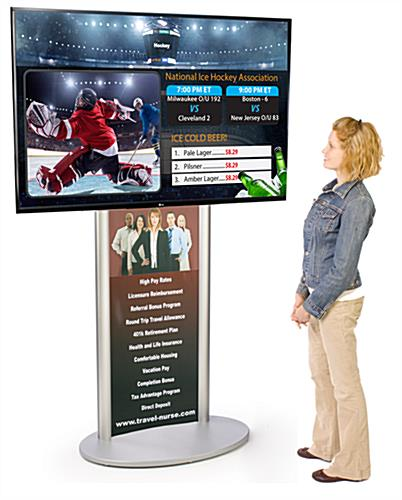 Digital Signage with Poster for Public Advertising