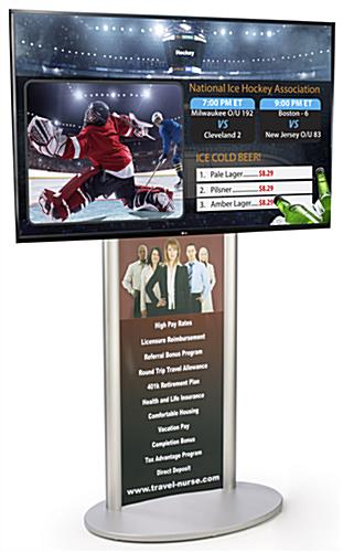 "Digital Signage with Poster includes 55"" Monitor and SuperSign Software"