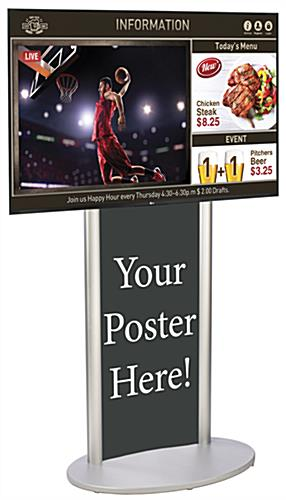 Silver Digital Poster Signage Kit