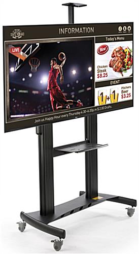 Black All-in-One Digital Signage Display with Graphic