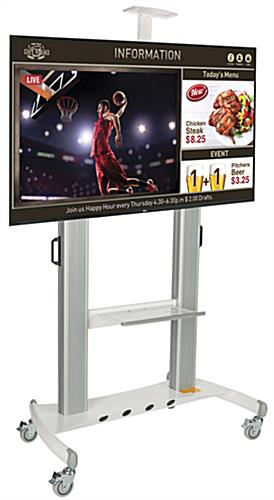 Silver Digital Flat Screen Sign Trolley