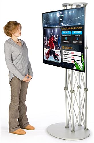 LG TV with HD Capability Electronic Signage Stand