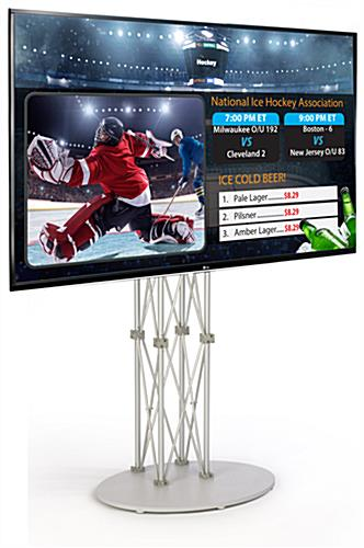 "55"" HDTV Electronic Signage Stand"