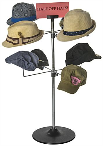 Counter Hat Rack for 8 Caps