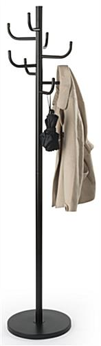 Matte Black Modern Coat Tree