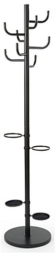 Matte Black Coat Rack Umbrella Stand