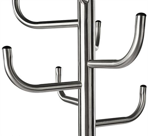 Stainless Steel Coat Rack with Hooks
