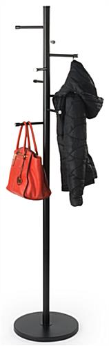 Office Coat Rack   8 Straight Hooks