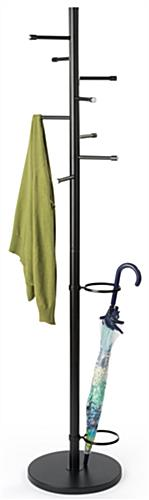Black Office Coat Hanger Stand