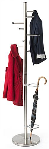 Stainless Steel Coat Rack with Umbrella Stand