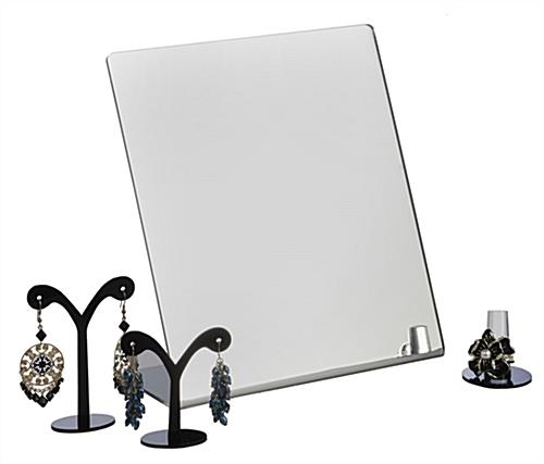 Countertop Mirror : Countertop Mirror Set of (4) with Small Frameless Angled Design