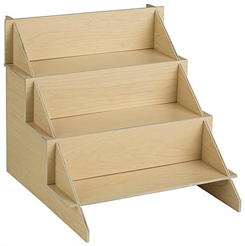 Wood Cd Dvd Stand 3 Tiered Multimedia Shelves