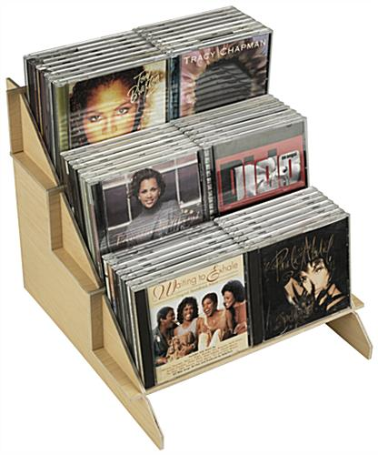 Easy Assembly Wood CD/DVD Stand