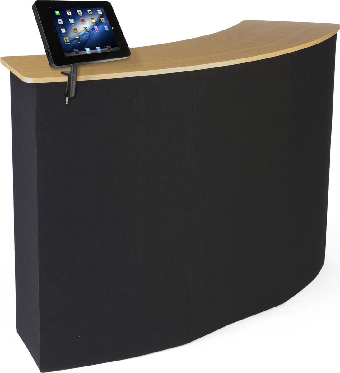 """Displays2go 61""""w Portable Counter with Clamp-on iPad Encl..."""
