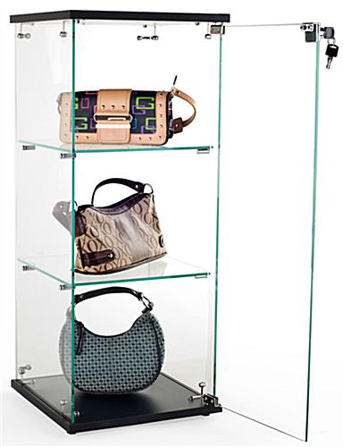 Swing-Open Door Countertop Glass Display Case