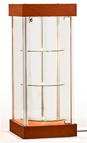revolving glass display case