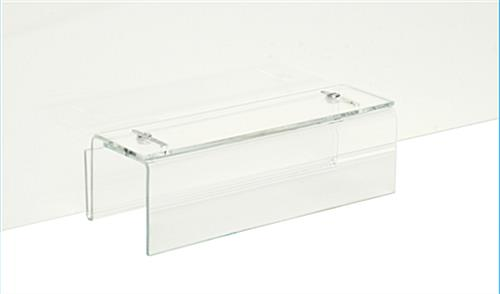 Sneeze guard clear acrylic cubicle panel extender with transparent bracket