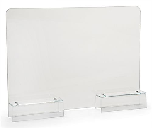 24 inch wide barrier shield clear acrylic cubicle panel extender with adjustable brackets