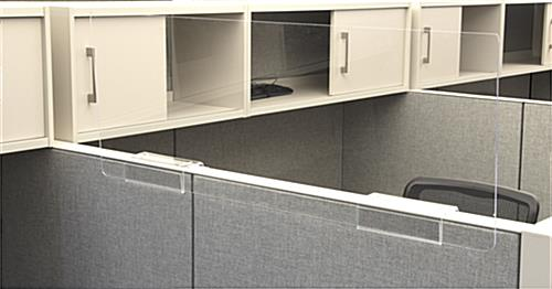 Clear acrylic cubicle extender