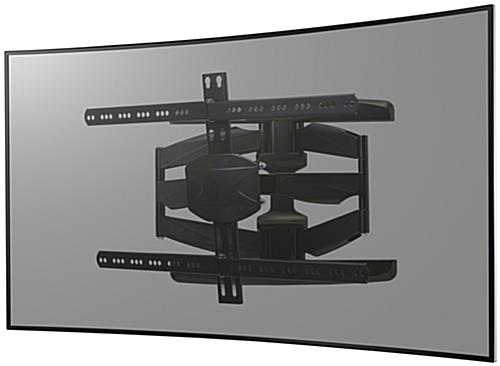 Curved TV Wall Mount, Black Finish
