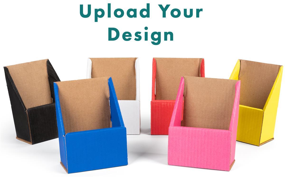 Custom Cardboard Pamphlet Holders   w/ UV Digital Printing