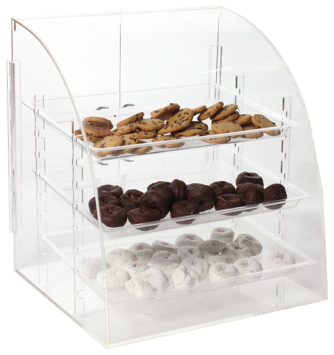Displays2go Acrylic Food Display Case with (3) Removable ...