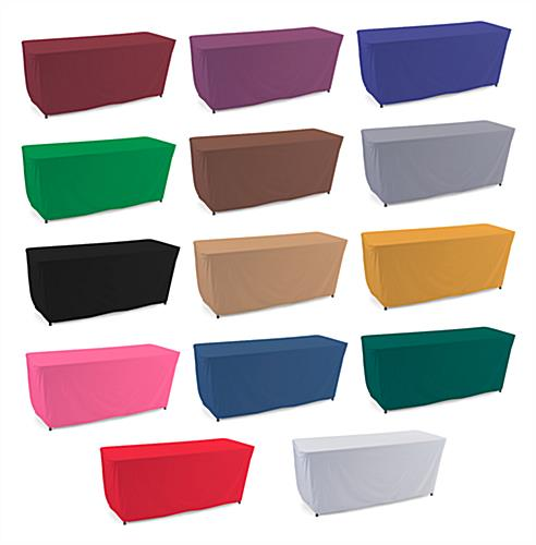 Convertible table cloth comes in variety of solid colors