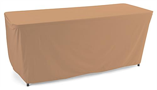 Tan convertible table cloth