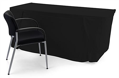 Convertible table cloth is size adjustable