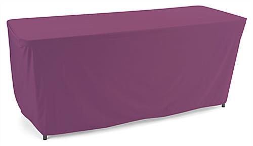 Convertible table cloth with rich purple color