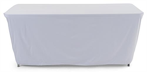 Convertible table cloth is rectangular shaped