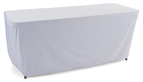 White convertible table cloth