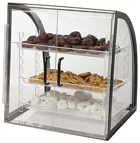 Acrylic Bakery Display 3 Removable Trays Amp Metal Frame