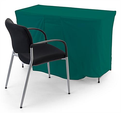 Convertible table cloth has size adjustable coverage