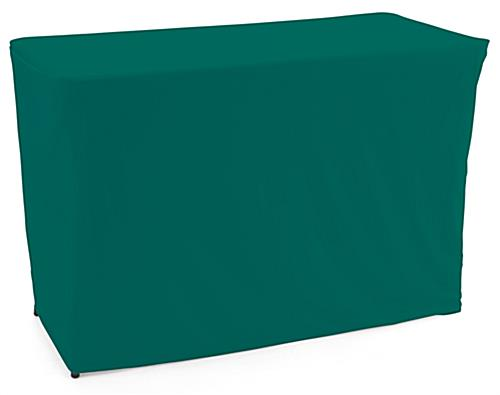 Convertible table cloth with forest green color