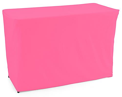 convertible table cloth with vibrant pink color