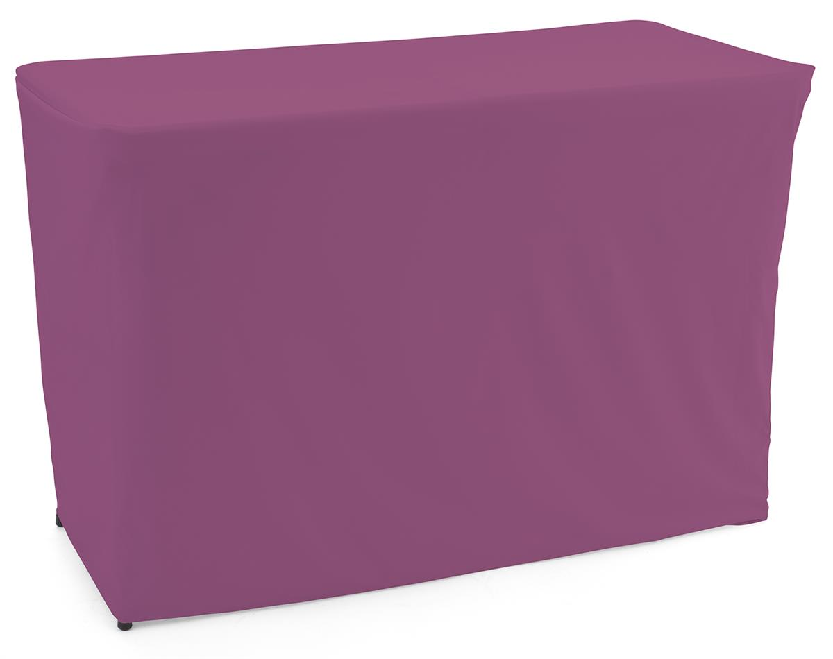 Convertible table cloth with vibrant purple color