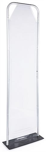 24 inch x 90 inch personal safety partition with clear vinyl barrier