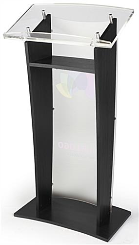 Printed Public Speaking Stand with Interior Shelf