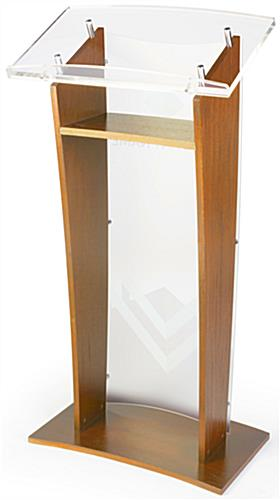 Customized Public Speaking Lectern with Shelf