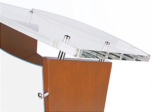 Customized Public Speaking Lectern with Large Reading Surface