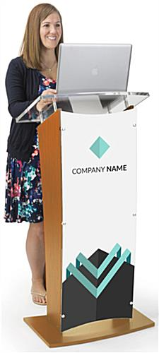 "Customized Public Speaking Lectern, 16"" x 44"" Printing Area"
