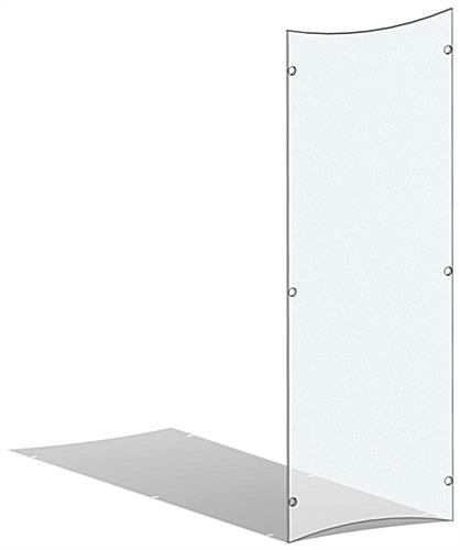 Durable frosted replacement panel for CVWD series lecterns